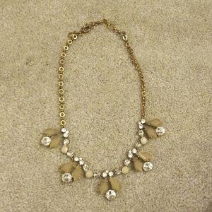 J Crew Rhinestone statement necklace